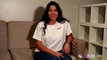 SUPER-BUSTY brunette latina gets her good dose of cock