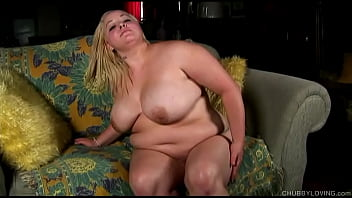 Big tits blonde BBW nasty talking about her first blowjob