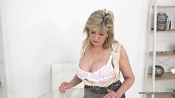 Your busty stepmom Lady Sonia helps you wank
