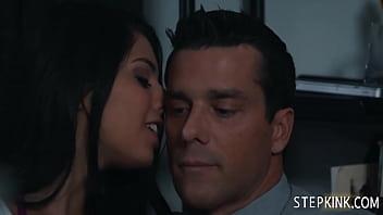 Gina Valentina Makes Her Stepdad Very Uncomfortable