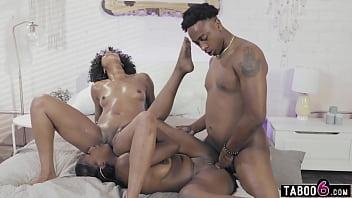 Black stepsister Daya Knight fights with bro over ebony stepmom Misty Stone