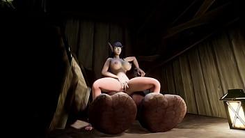 Farmer Milf Milks Her Bull