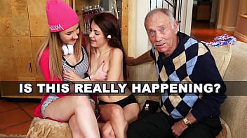 BLUE PILL MEN - Arnie Berke Gets His Geriatric Mind Blown By Teen Hotties Vanessa Phoenix And Gigi Flamez 11 min