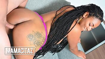 CARNEDELMERCADO - (Morelia Mazo, Pedro Nel) - Big Ass Ebony Take A Big White Cock Inside Her Pussy 15 min