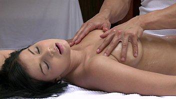 ORGASMS Beautiful young girl has her sexy body massaged and pleasured by hot guy