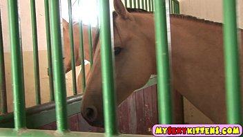 Cute masturbating horse rider