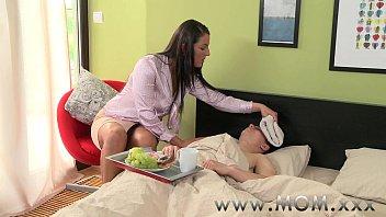 MOM Horny Brunette MILF gets creamed 11 min