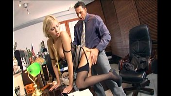 Secretary fucking in stockings and stilettos