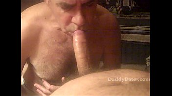 Emptying My Balls in an Older Guys Mouth