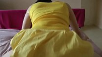 Plump wife fucks with her yellow dress on at Porn Yeah