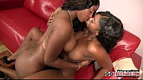 Two Sexy Ebony Chicks Play With Each Other;