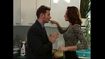 Wanda Curtis gets fucked while cleaning the kitchen