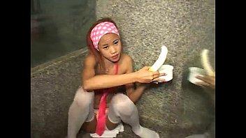 Me Thai girl Tia 18 like banana sucking