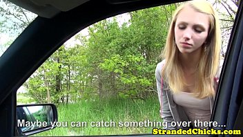 Young hitchhiker pays ride with her pussy 8 min