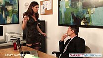 Beauty babe Casey Calvert fuck in the office