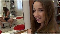 Stunning European babe Taissia gives Rocco a deepthroat