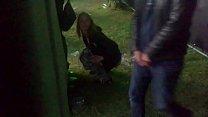 pissing at festival