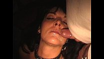 Slave wife gangbanged in adult theater