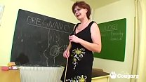 Mature Teacher Bangs Her Student In Class
