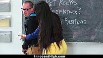 InnocentHigh - Hot MILF Teacher Fucks Student