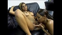 Naughty guy hired couple ebony models to record their lesbian game  in his office