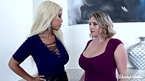 Busty Lesbians Maggie Green & Bridgette B. Sway Their Big Tits For You