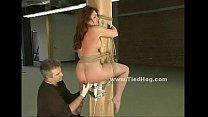 Sex slave bound in leather bdsm (Stop jerking off! Visit RealOne24.com)