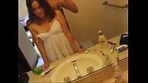 una cojida con mi novia en el bano.