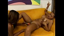 Two hot black whores Jasmine Sky and Alanna Lee lick each other's pussies and fuck with dildo