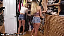 AllGirlMassage Adria Rae And Her Bestie Emma Hix Play With Stepmom's Toys Box