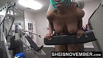Black Cosplay Freak Msnovember Fuck In The Gym By A Stranger  & Blowjob Young  POV PublicSex On Sheisnovember