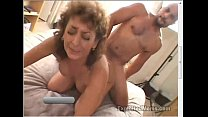50 Year Old Amateur Granny Gets Busy on Big Black Cock in Interracial Video