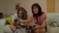 Hot Gamers Kara Price and Sasha Sweet Take A Break To Eat Some Pussy