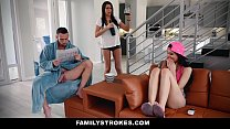 FamilyStrokes - Hot Asian Teen (Brenna Sparks) Fucks StepDad While Mom Sleeps