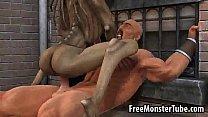 Hot 3D cartoon monster babe getting fucked hard