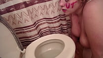 toilet licking
