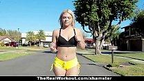 Blonde babe Rharri Rhound gets her ass slammed - TeamSkeet