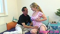 Horny young stepdaughter taken hard in anal action by stepdad from behind