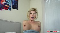 Waking up my stunning cougar stepmom with morning wood