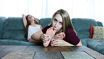 Teens Kimber Lee & Ashlynn Worship Each Others Feet!