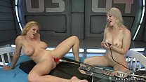 Lesbians fist and anal fuck machines