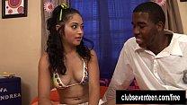 Exotic teen Andrea Kelly take a big black cock