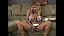 Ebony goddess Coco Pink put some slobber on the big knobber