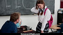 InnocentHigh - Shy Schoolgirl (Jay Taylor) Fucks Her Speech Teacher