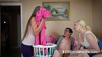 MILF fucks teen daughter's boyfriend featuring Leilani Lei and Fifi Foxx - cougar fucks 18yo boy