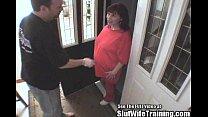 Pregnant Latina Maid Double Fucked