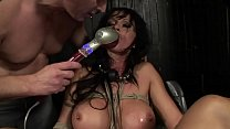 Under total domination. Humiliated bitch mouth fucked and screwed painfully in her all holes. BDSM movie. Hardcore bondage sex.