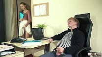 Young Intern ravaged by old guy cock in the office