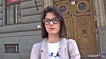 GERMAN SCOUT - 18 Jahre junge Studentin Sara AO Anal gefickt bei echten Casting nach der Uni