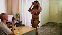 THICK Black Girl Casting Interracial Creampie